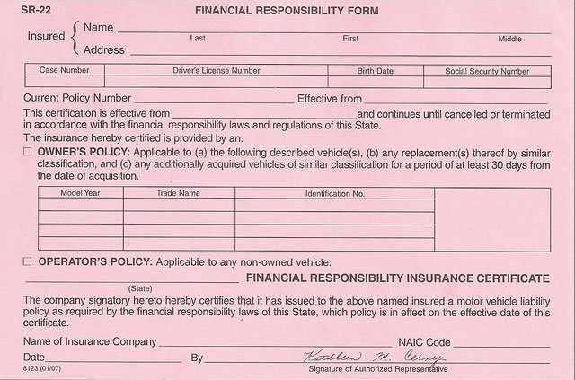 Non Owner SR22 Insurance Form, Non Owners Insurance NC